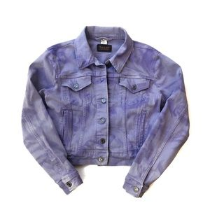 Levi's Lavender Cropped Denim Jacket